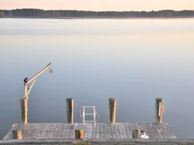 Ocean Pines cottage rental - Private 6 x 18 foot dock. Bring your boat. The crabs are incredible!