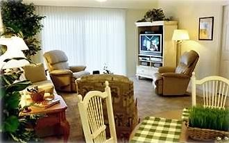Living Room with HDTV