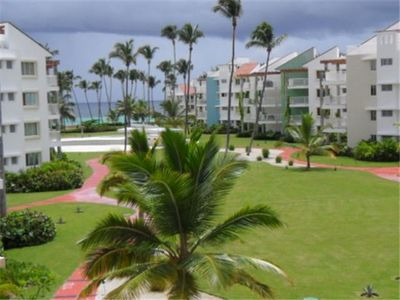 Punta Cana condo rental - Ocean view from large Balcony