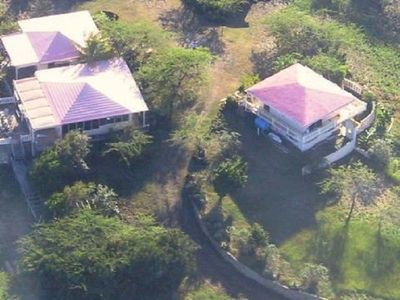 Culebra house rental - Property Aerial View (Casita on Right)