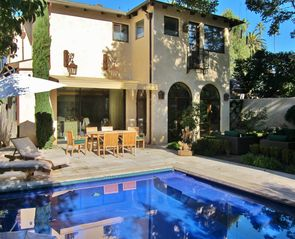 Santa Monica house photo - Pool & outdoor dining
