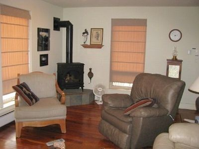 Pagosa Springs cabin rental - Gas Stove in Living Room