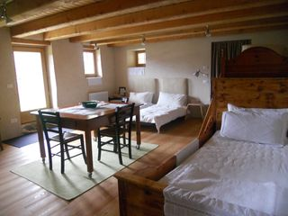 Mezzano barn photo - Open space sleeping area on ground floor, sleeps 5; study area also