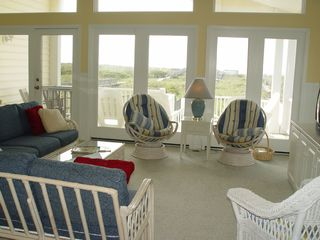 Holden Beach house photo - Living room view of ocean