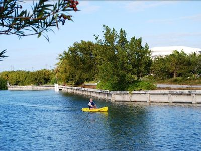 Kayaking in the canal. The ocean is just around the corner!