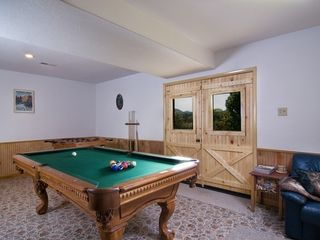 Wears Valley cabin photo - Downstairs ~ Pool Table TV