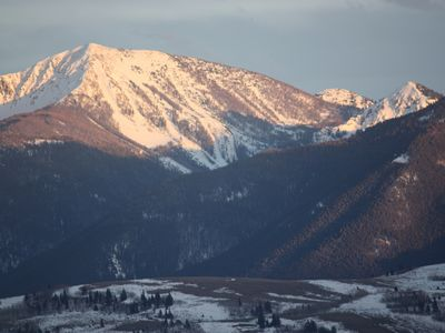 """Jackson Peak."" A glorious sight, just to looker's right of ""Sleeping Indian."""