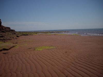 Beautiful red sand beaches