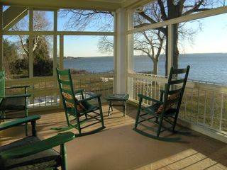 Many rooms at Sandaway have private screened porches. - Oxford lodge vacation rental photo