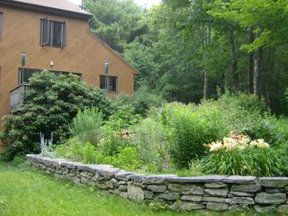 Wiscasset house photo - South garden wall in July
