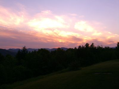 Intervale condo rental - Sunset from deck