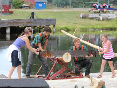 Enjoy a trip to town and enjoy the Lumberjack Shows!