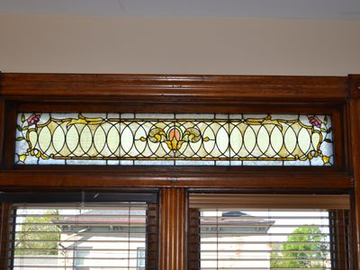 Stain glass above windows