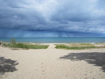 Oscoda house rental - Storm over the lake
