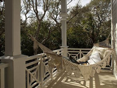 Utmost in relaxation with a hammock, plenty of balconies and comfy furnishings!