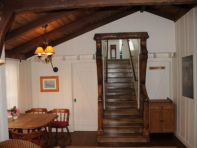 Original wooden staircase