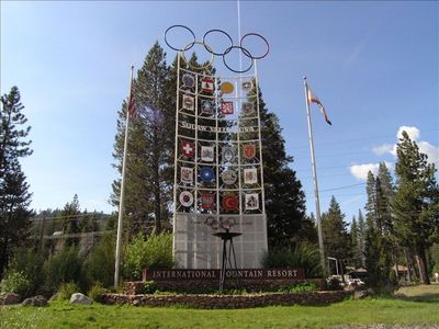 Olympic Valley condo rental - Squaw Valley entrance. Site of the 1960 Winter Olympics