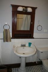 Chicago apartment photo - Bathroom with ceramic tile floor and walls