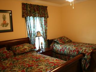 Surfside Beach house photo - Guest Bedroom (main level). Queen & single bed with a full bathroom.
