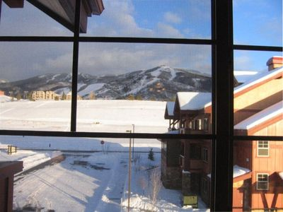 View of ski area from living room