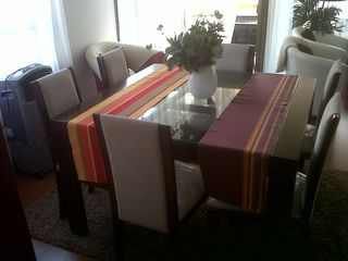 Santiago apartment photo - Dining table with direct access to the balcony.