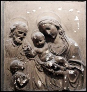 bas-relief of Nativity