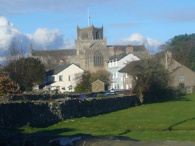 A view of Cartmel Priory.