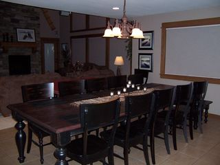 Sunriver house photo - Dining Room has custom-built table that seats 14!!