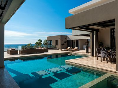 Contemporary Mexican Mansion with Stunning Views.  Sleeps 12.  Close to Town.