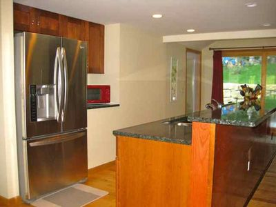 All stainless steel appliances including an LG refrigerator w/ water dispenser.