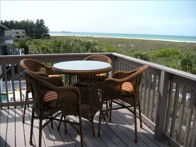 Siesta Key condo rental - Balcony overlooking the Gulf