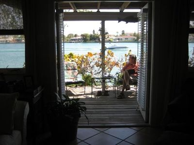 View of waterfront from Living Room