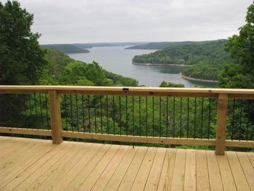 Beaver Lake cabin rental - How's this for a deck view?
