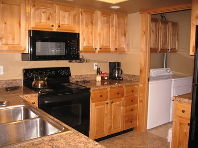 All the convinces of home…. nicely equipped kitchen and laundry for your comfort