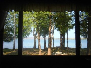 lake view from inside home