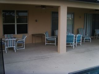 Terra Verde house photo - Covered Lanai, Plenty of Seating for Large Groups.