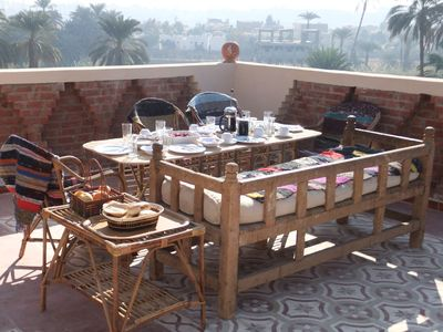 Luxor villa rental - Breakfast on terrace