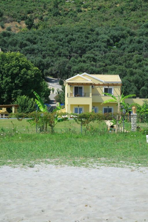 View from beach to villa