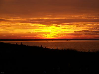 East Sandwich house rental - Enjoy Gorgeous Sunsets From Deck