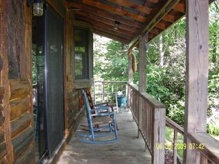 Meadows of Dan cabin photo - Cabin Front Porch w rocking chairs & scenic views
