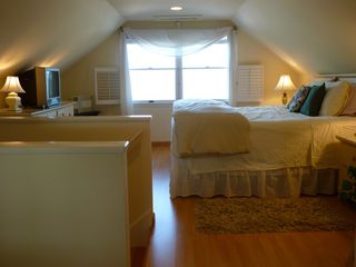 Slaughter Beach house photo - Master bedroom with spectacular view of the water
