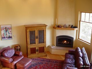 Angel Fire house photo - Warm Living Room .......That's snow out there !