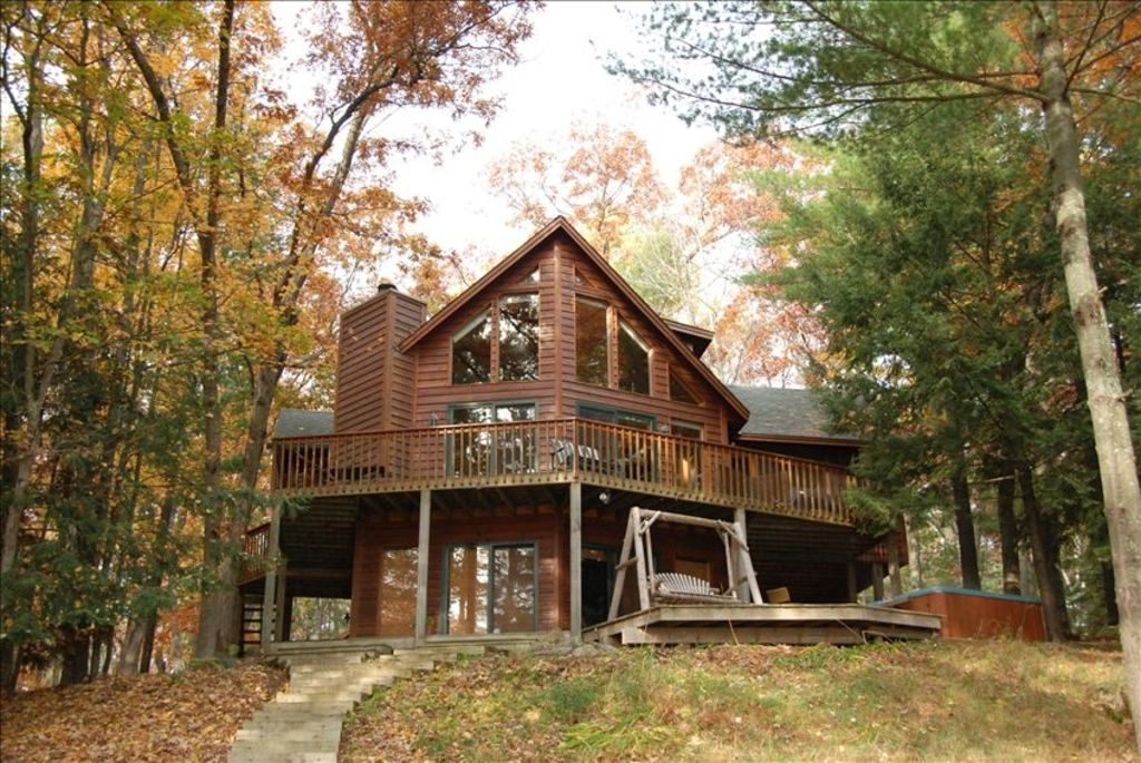 Fabulous 4 br lake cabin wisconsin north woods vrbo for Fishing cabin rentals wisconsin
