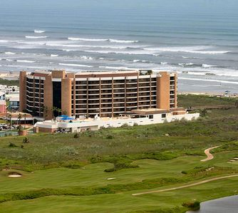 Aransas Princess with Beach in front next to golf course