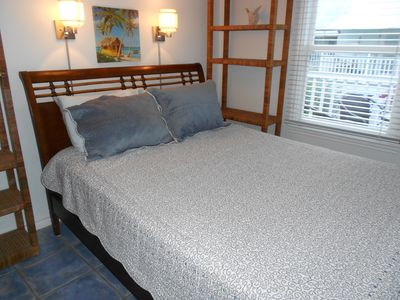 Key West condo rental - Master bedroom has queen bed.
