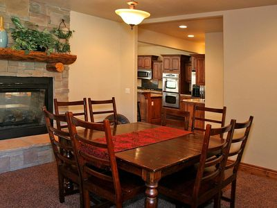 Formal Dining with double sided fireplace