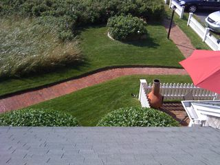 Truro cottage photo - Lawn from rooftop deck