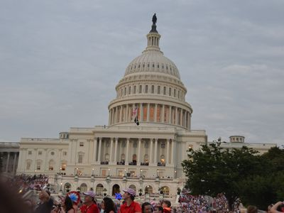 The U.S. Capitol on the Fourth of July 2011