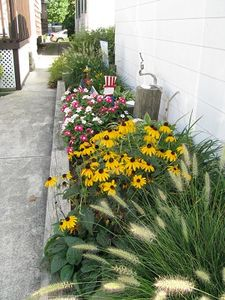Boardwalk cottage rental - Part of our back yard garden.