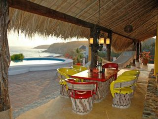 Huatulco villa photo - Dinner on the Terrace. Commanding Ocean View
